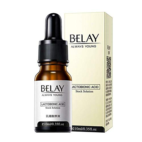 Pore Corset Serum,Zero Pore Instant Perfection Serum,Lactobionic Acid Serum Wrinkle Face Shrink Care Pores Acne-Removing Blackhead Firming Essence 10ML(3PC)