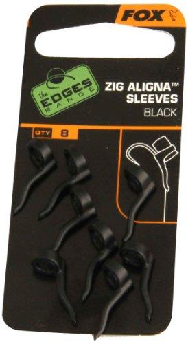 Fox Zig Aligna Sleeves Black Montage Karpfenmontage Angelmontage