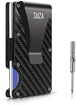 SWZA Carbon Fiber Minimalist RFID Blocking Wallet