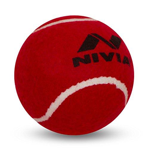 Nivia schwere Tennis Ball Cricket Ball (6Stück), rot