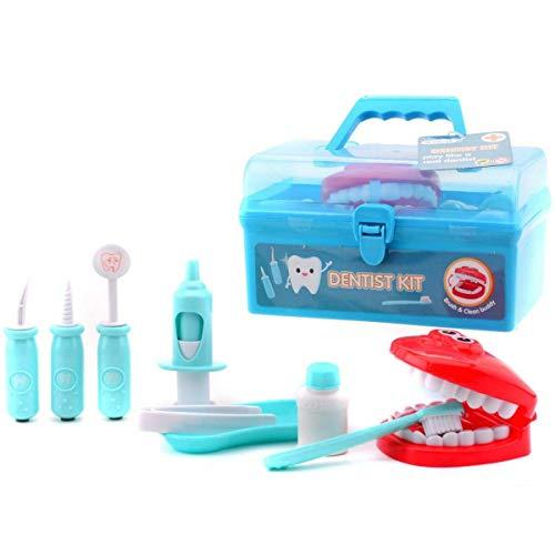 Johntoy Zahnarztspielesatz im Koffer für Kinder 10-teilig