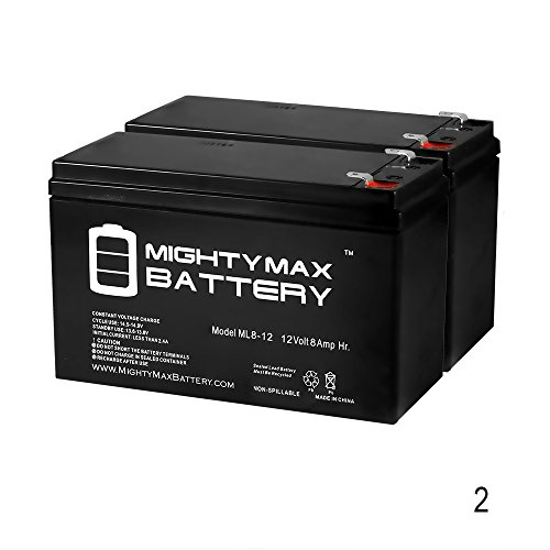Mighty Max Battery 12V 8Ah Razor E300, E 300 13113640 Electric Scooter Battery - 2 Pack Brand Product