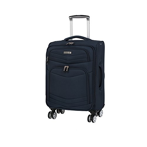 it luggage Intrepid 8 Wheel Lightweight Semi Expander Suitcase Cabin Maleta, 56 cm, 47 Liters, Azul (Dress Blues)