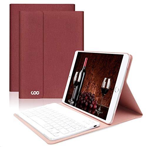 Custodia con Tastiera Italiano per iPad 2018/iPad 2017/iPad pro 9.7/iPad Air 2/1, Custodia iPad 9.7 con Tastiera Italiano Bluetooth Removibile con Angoli di Visualizzazione Multipli (Rosso)