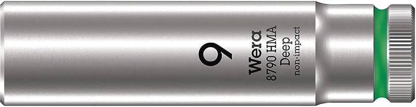 "Wera 05004506001 8790 HMA Deep klucz nasadowy 1/4"", zielony, 9,0 mm"