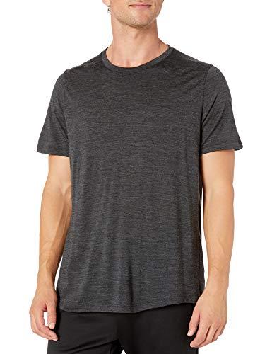 icebreaker Merino Herren T-Shirt Sphere Short Sleeve Crewe, Größe L, Schwarz