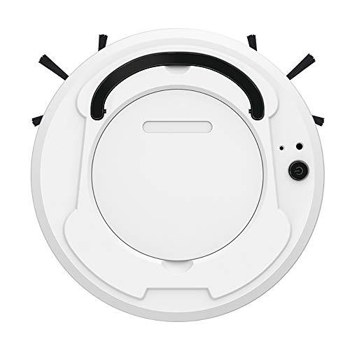 Robot limpiador de aspiradora automático para el hogar seco piso húmedo inteligente barredora recargable barrido fregona barrido herramienta de succión de barrido (blanco)