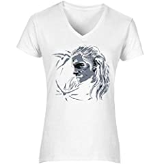 The Witcher Wolf Geralt Women's T-Shirt V Neck Camiseta Mujer Tshirt