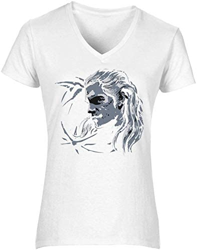 The Witcher Wolf Geralt Women's T-Shirt V Neck Camiseta Mujer Tshirt