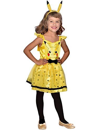 Amscan 9911600 Girls Kids Child Pokemon Pikachu Costume 6-8 Years, Multi-Coloured