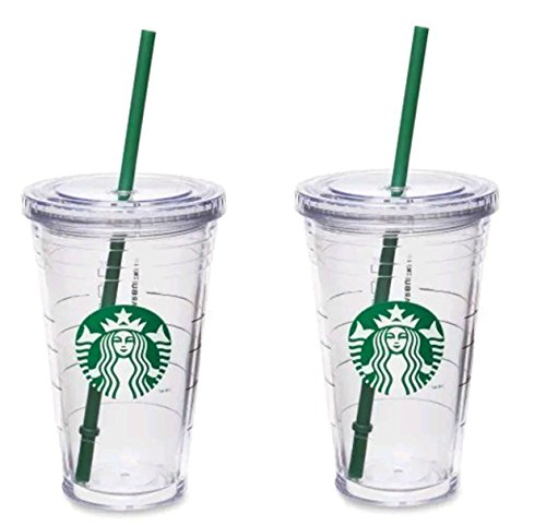 Starbucks Grande Thermobecher, doppelwandig, Acryl, 473 ml, 2 Stück