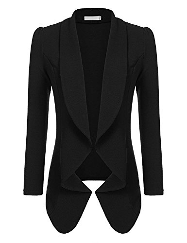 Beyove Women's 3 4/Long Sleeve Lightweight Open Front Cardigan Blazer Jacket