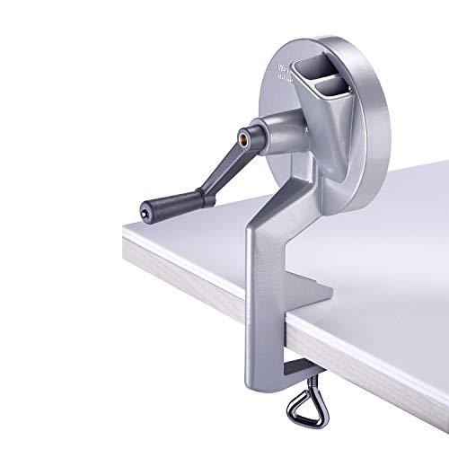 Westmark Bohnen-Schneider mit 2 Schneidöffnungen und Schraubzwinge zur Tischmontage, Rostfreie Edelstahl-Messer/Aluminium-Gehäuse, Silber, 11822260