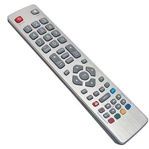 VINABTY SHWRMC0003 ErsatzFernbedienung für Sharp Aquos TV LC-32CFE6131K LC-32CFE6242E LC-32CHE6242E LC-40CFE6351K LC-43CFE6451K LC-43SFE7452E LC-49CFE6031K LC-55CFE6241E LC-55CFE6452E LC-55SFE7452K