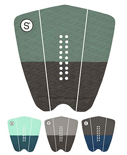SYMPL Surfboard Traction Pad • 3 Pieces • Maximum Grip, 3M Adhesive for Surfboard, Skimboard, Longboard [ Slate Green ]