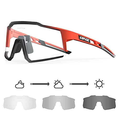 occhiali bici fotocromatici KAPVOE Fotocromatici Occhiali Da Ciclismo Con TR90 Occhiali Da Sole Sportivi Donne Uomini Che Corrono Chiaro Mtb Bicicletta Accessori 11