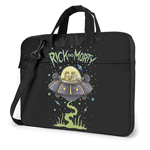 FUPOGEG Ri-Ck N Morty Laptop Shoulder Messenger Bag Case Sleeve for 13 Inch 14 Inch Laptop Case Laptop Briefcase 15.6 Inch for Business Casual or School Case for MacBook AIR PRO