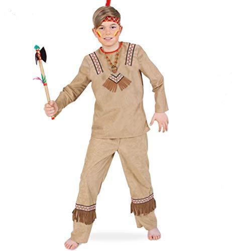 KarnevalsTeufel Indianer Kostüm Kinder Hemd Hose Jungen (128)