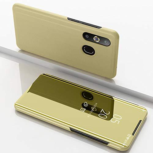F&a® Spiegel Überzug Flip Hülle für Samsung Galaxy A8s/Samsung Galaxy A50/Samsung Galaxy A30/Samsung Galaxy A20 (Gold)