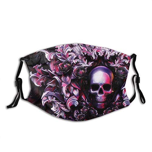 Skull Mouth Mask Protective Balaclava Unisex Windproof and Dustproof Mouth Mask with Adjustable Elastic Strap Face Cover