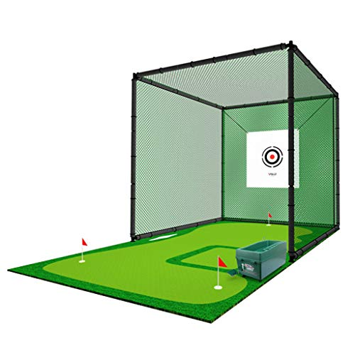 Find Discount ADKINC (9.84 x 9.84 ft Golf Net Bundle-Dual-Turf Golf Mat, Chipping Target and Carry Bag-Golf Nets for Backyard Driving & Golf Hitting Nets