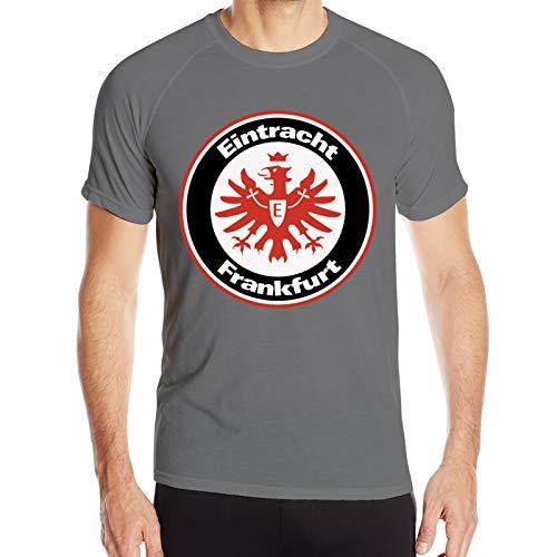 Y-Store Mens Short Sleeve Running Tees, Fast-Drying Sports Tshirt Theme Print - Eintracht Frankfurt