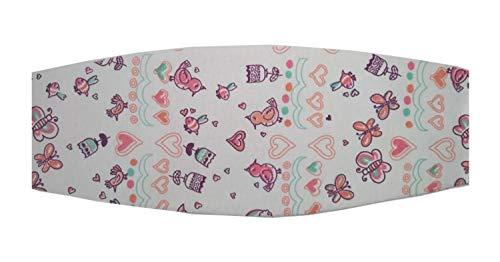 Faixa soneca apoio de cabeça para o bebê usar na cadeirinha do carro (Unico, Estampa jardim)