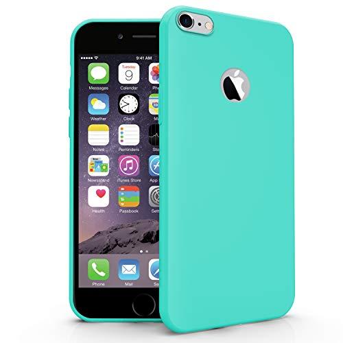 N NEWTOP Cover Compatibile per Apple iPhone 6 e 6S, Custodia TPU Soft Gel Silicone Ultra Slim Sottile Flessibile Case Posteriore Protettiva (Turchese)
