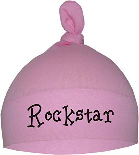 KLEINER FRATZ Baby Mütze (Farbe rosa) (Gr. 0-18 Monate) Rockstar/ENGL
