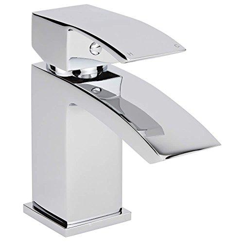 Hudson Reed Waschtischarmatur Wick - Armatur für Wascbecken - Moderne Einhebel-Mischbatterie in Chrom zur Aufsitzmontage
