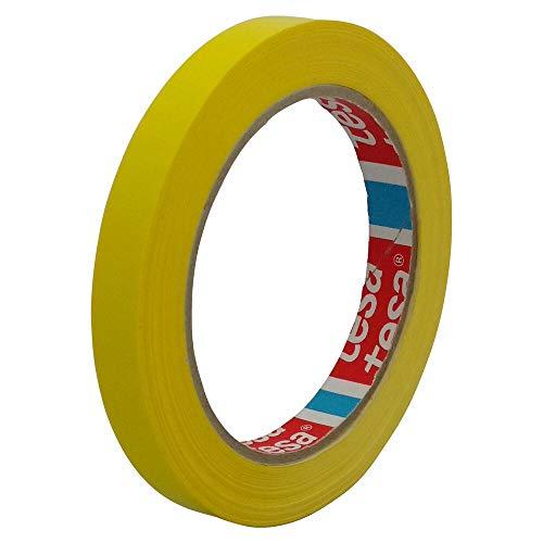 TESA Klebeband Markierungsband tesafilm 4204 PVC, 12mmx66m, gelb/Ideal für Tischabroller und Beutelverschlußmaschinen