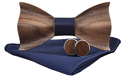 BeForBio - Pajarita de madera hecha a mano, elegante y a la moda, accesorio de moda o idea de regalo, ajustable fácilmente.