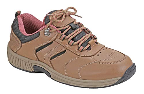 Orthofeet Proven Relief of Foot and Heel Pain. Extended Widths. Best Plantar Fasciitis Orthopedic Walking Shoes Diabetic Bunions Women's Sneakers Sonoma Brown