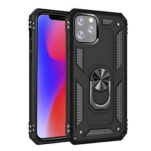 RZL Teléfono móvil Fundas para el iPhone 12 Mini 12 Pro MAX, Metal Militar Hebilla del Anillo del Soporte del teléfono Cubierta de la Caja del Anillo magnético de Coche para iPhone 11 Pro MAX