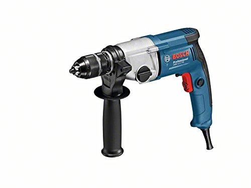 Bosch Professional 06011B2000 GBM 13-2 RE boormachine, snelspanboorhouder 13 mm, 750 W, 230 V, zwart, blauw, grijs
