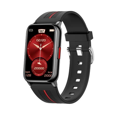 ACESPORT Smartwatch Orologio Fitness Tracker 1,57'' Uomo Donna Con Controllo della musica e funzione fotocamera remota Cardiofrequenzimetro Monitor del Sonno Activity Tracker impermeabile (H76 Black)
