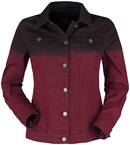 Black Premium by EMP Rote Jeansjacke mit Farbverlauf Frauen Jeansjacke schwarz/rot M