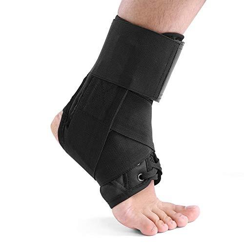 Tobillo ortesis apoyo, transpirable tobillo ortesis Protección de tobillo esguinces Corrección Cordones tobillo ortesis para mujeres y hombres