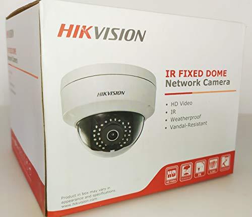 HIKVISION HD Smart 4 Megapixel PoE Dome IP Outdoor Surveillance Camera, 2.8mm Lens, White (US Version)