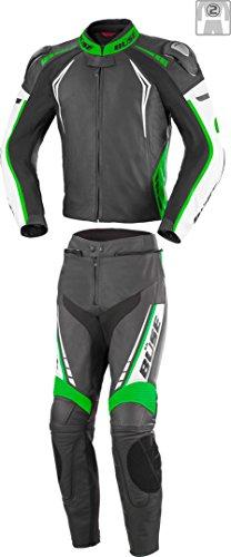 Büse Silverstone Pro 2-Teiler Motorrad Lederkombi 56 Schwarz/Grün