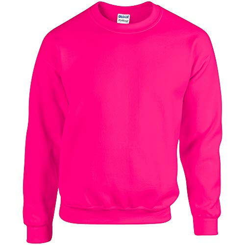 Gildan Herren Sweatshirt, Safety Pink, L