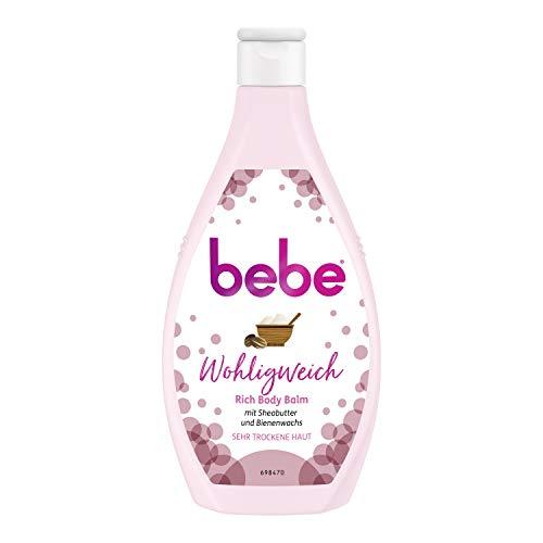 Bebe Wohligweich, Rich Body Balm mit Sheabutter und Bienenwachs, Bodylotion, Sehr trockene Haut, 6x 400 ml