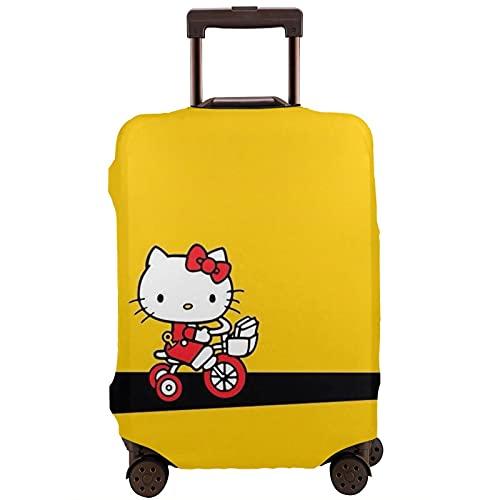 Reisegepäck-Abdeckung, Hello Kitty sitzt auf dem Geburtstagskuchen, niedlicher Cartoon-Koffer-Schutz, elastisch, waschbar, kratzfest, passend für 45,7-81,3 cm Gepäck