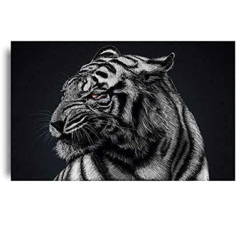 Cuadro sobre Lienzo Póster Pinturas Lienzo Animales Salvajes Pared Tigre Blanco Fresco Y Cuadros Sala Estar Pared para El Hogar