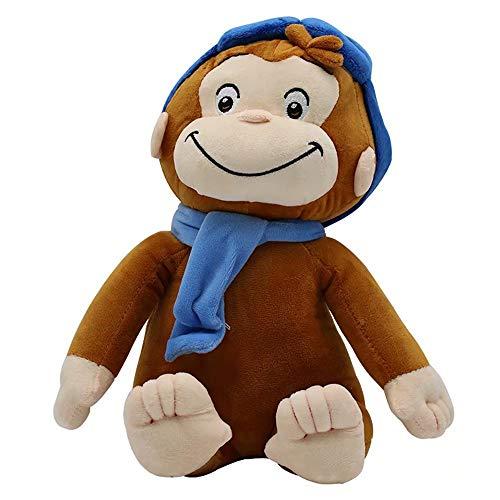 """Scimmia George Peluche Doll Scimmia Ripieno Animali Peluche Giocattoli Regali per Ragazzi & Ragazze, 11.8"""" George Indossa Sciarpa Blu"""