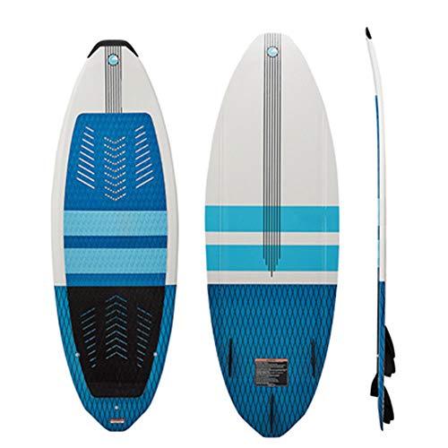 TWW Wakeboard, Wakeboard Abschleppbrett, Anfänger Wakeboard Surfbrett Adult Sports Professional Wakeboard,Blau
