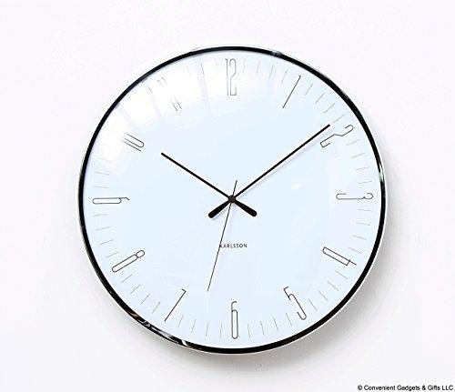 Karlsson - Wall Clock, Wanduhr - Dragonfly - weiß - Kuppelglas