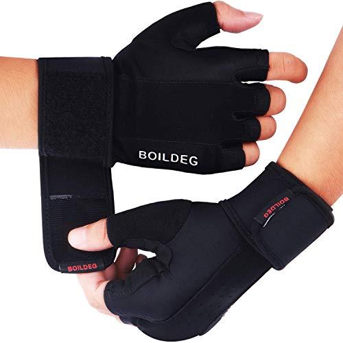 Fitness Handschuhe,Trainingshandschuhe,Gewichtheben Handschuhe für Bodybuilding Crossfit,Damen&Herren (SCHWARZ, M)
