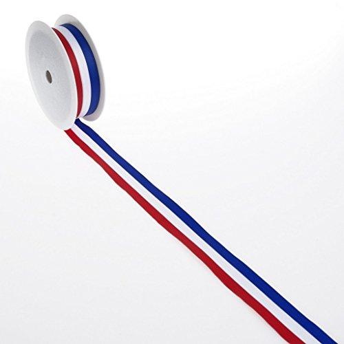 Deko und Band Nationalband Niederlande + Frankreich + Friesenland - blau, weiß, rot