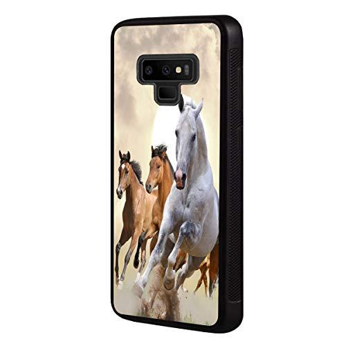 Boslive Schutzhülle für Samsung Galaxy Note 9 (2018) mit Pferde-Hintergrund-Design, TPU, dünn, Kratzfest
